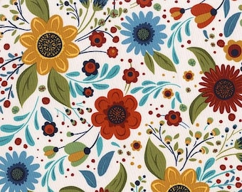 Michael Miller Fabric Woodland Daisy in Meadow, Choose your cut