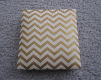 Magic Wallet, Chevrons, Gold and Cream Chevron Mini Magic Wallet, Flip Wallet