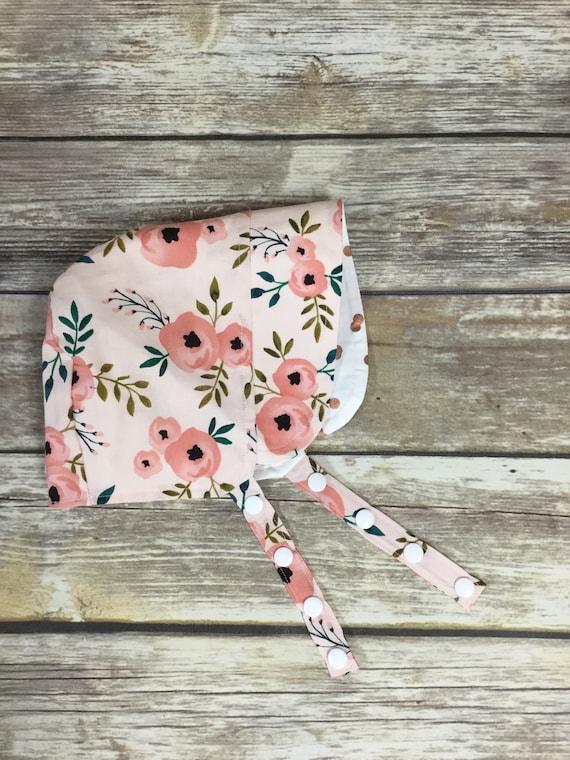 520834df4 Baby Bonnet, Modern Baby Sun Hat, Baby Beach Hat, Girls Sun Hat, Baby Hat,  Girl Bonnet, Boy Bonnet, Modern Bonnet, Floral Bonnet Rose Gold