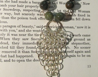 Item 2162 Chainmaille Jasper Necklace