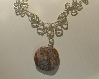 Item 9476 Mother Earth Pearls with twisted wire Necklace