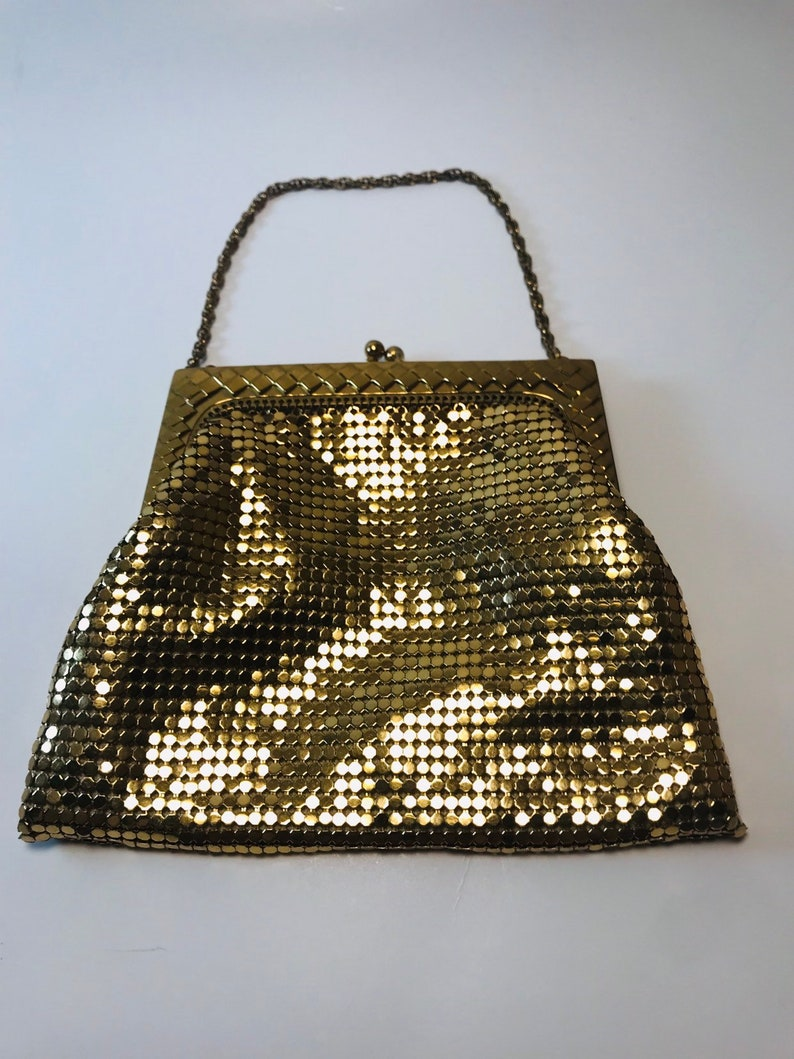 Vintage Whiting and Davis Gold Purse