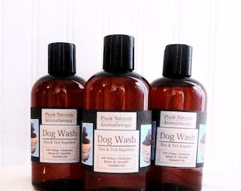 DOG WASH All Natural Flea and Tick Shampoo 8 oz