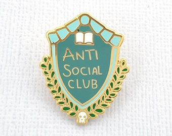 Anti Social Club Enamel Lapel Pin
