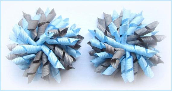 SCHOOL UNIFORM BURGUNDY LIGHT BLUE DARK GREY KORKER CORKER CURLY HAIR BOWS