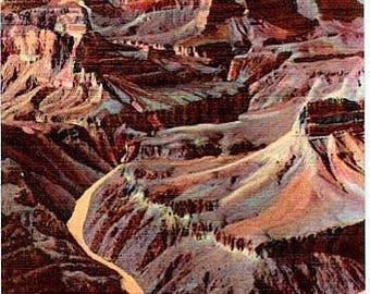 Vintage Arizona Postcard - The Grand Canyon from Pima Point (Unused)