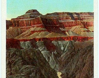Vintage Arizona Postcard - Granite Gorge and Colorado River from Tonto Plateau at the Grand Canyon (Unused)