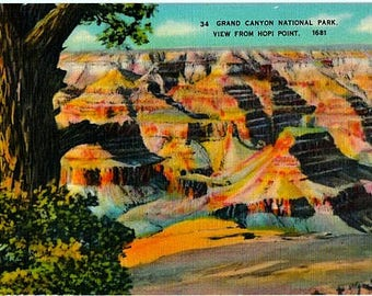 Vintage Arizona Postcard - The Grand Canyon from Hopi Point (Unused)