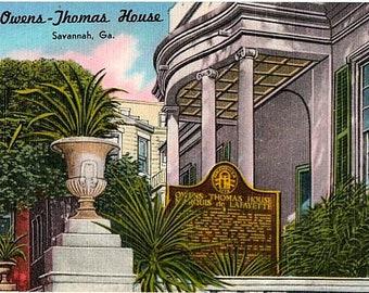 Vintage Georgia Postcard The Greenwood Plantation