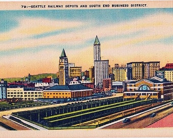 Anderson Main Street by Moonlight Vintage South Carolina Postcard Unused
