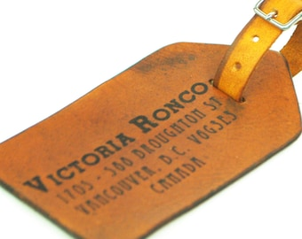 Custom Leather Luggage Tag, Personalized Luggage Tag Christmas Gifts Stocking Stuffer Gifts for Guys Dad Girls