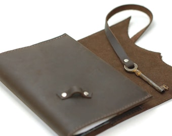 Leather Notebook, Personalized Leather Journal, Travel Journal, Leather Diary, Christmas Gifts for Men