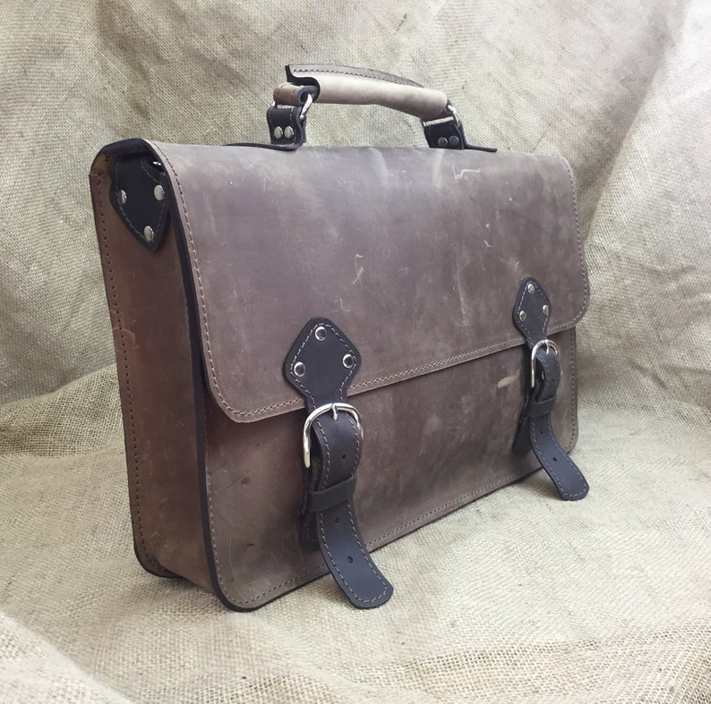 a8cb440355 Men s Leather Briefcase Messenger Bag Leather Laptop