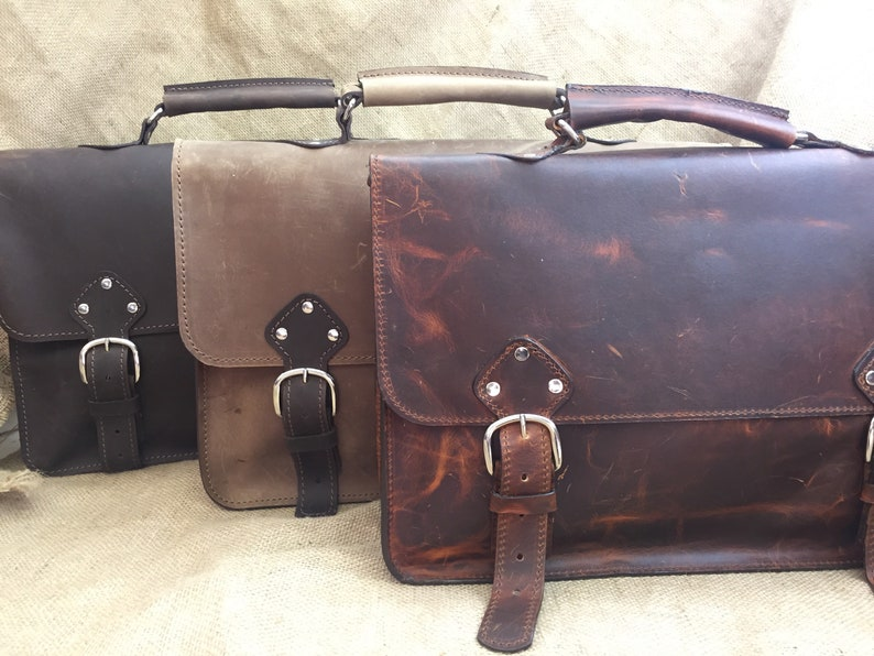 601ce52084 Industrial Men s Leather Messenger Satchel Shoulder Bag