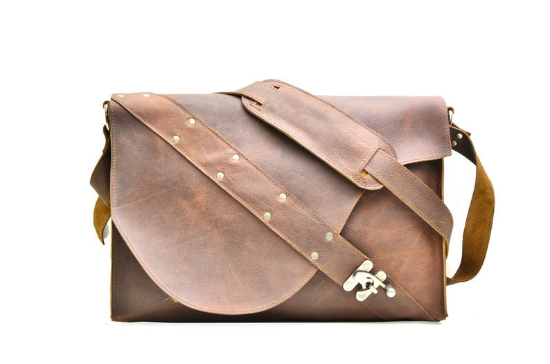 029a1729d3 Leather Satchel Industrial Leather Laptop Bag Distressed