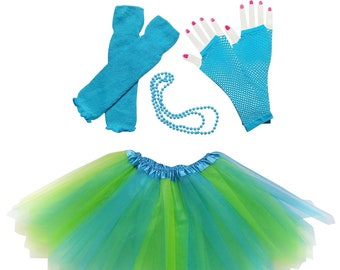 8eee67b55f 80 s Blue and Green Pixie Costume for Toddler