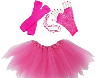 279d09948cd 80 s Hot Pink Pixie Tutu Costume for Toddler