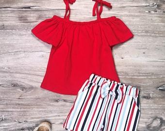NEW Boutique Cow Suspender Shorts Girls Outfit Set 12M 18M 2T 3T 4T 5-6 6-7