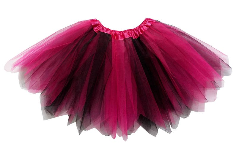 2d79072da Hot Pink & Black 3 Layer Pixie Angle Cut Tutu Skirt Kid | Etsy
