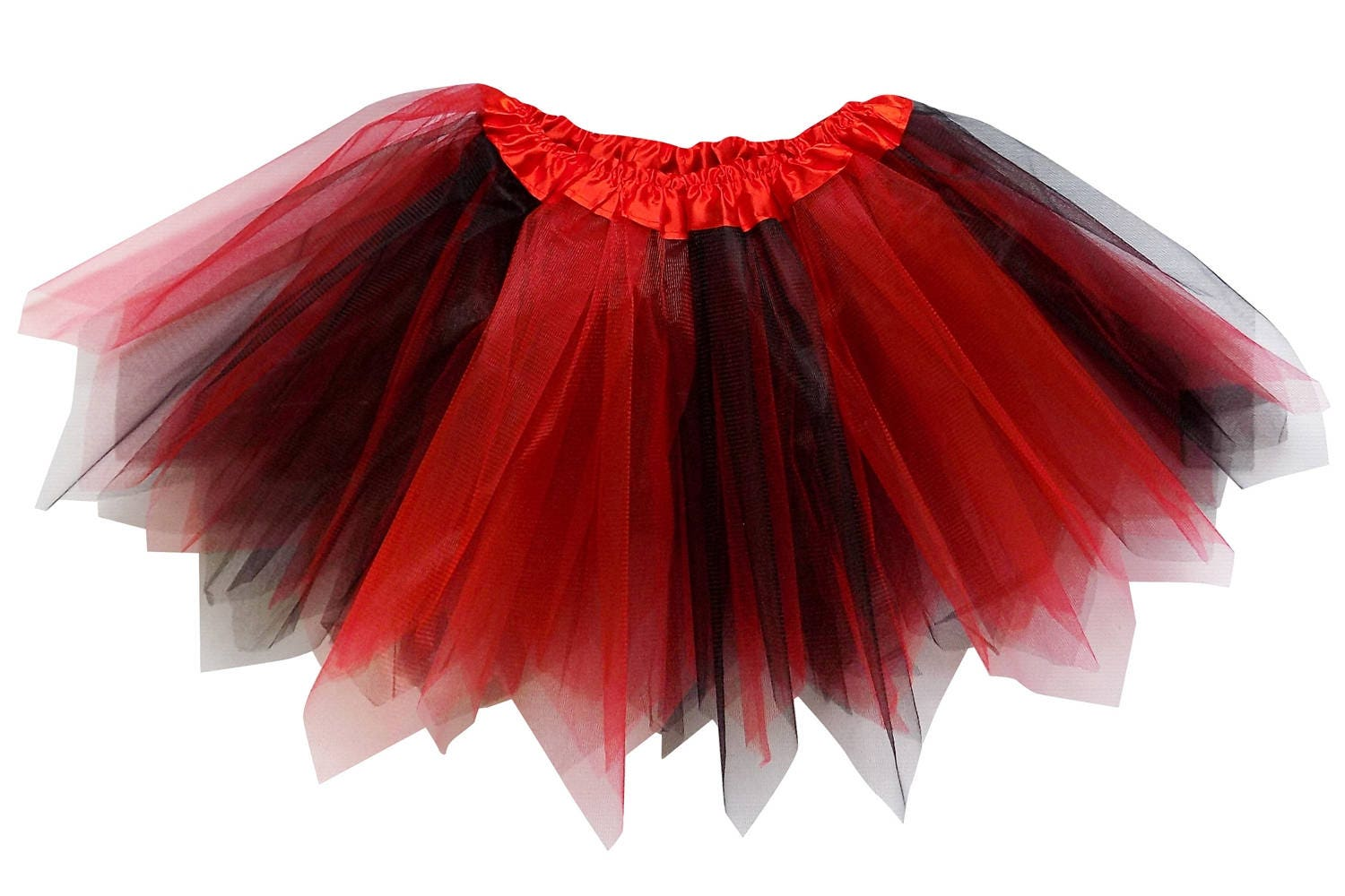 d79629e0a Red & Black 3 Layer Pixie Angle Cut Tutu Skirt Kid Adult | Etsy