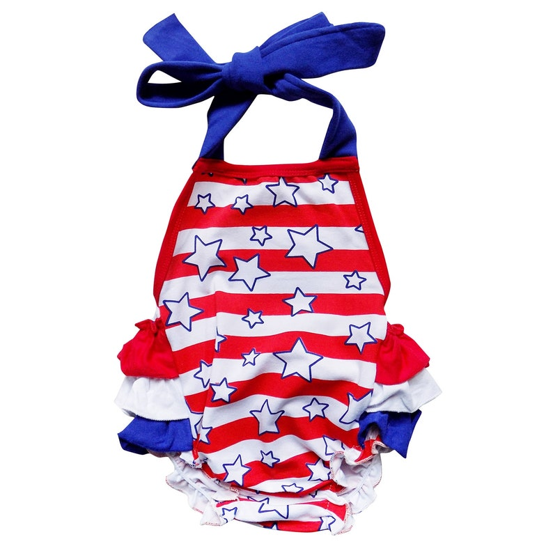 ca055fcf0f72 Stars and Stripes Red White   Blue Ruffle 4th of July