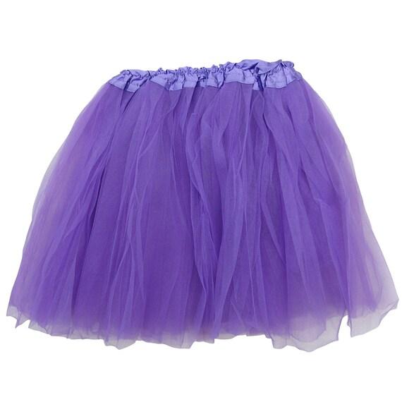 Girls Toddler Purple Lilac Three Layer Tulle Tutu Skirt Dance Ballet SALE