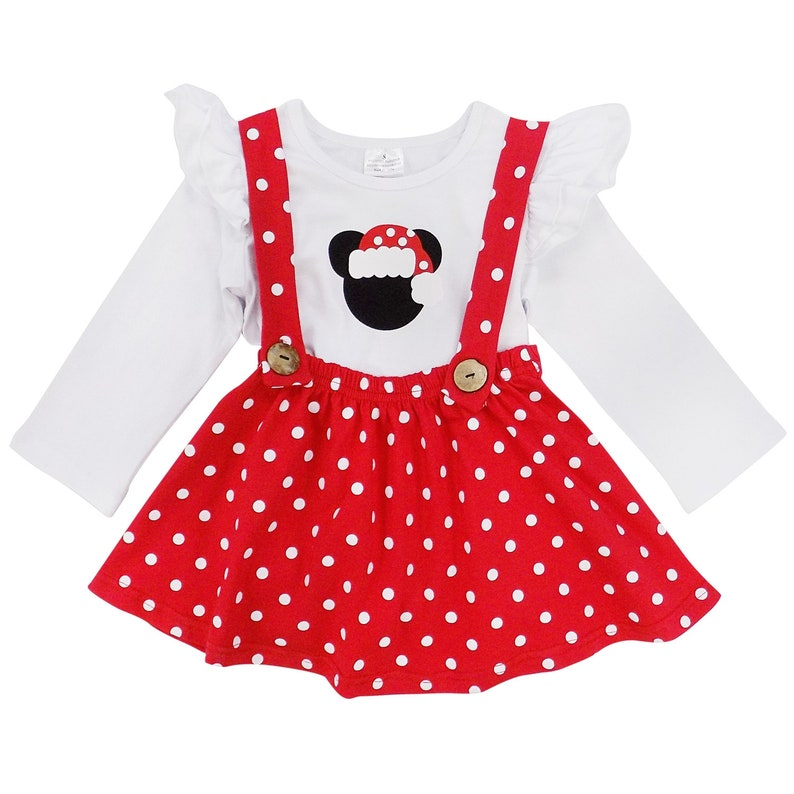 Toddler Girls Polka Dots Christmas Dress Skirt