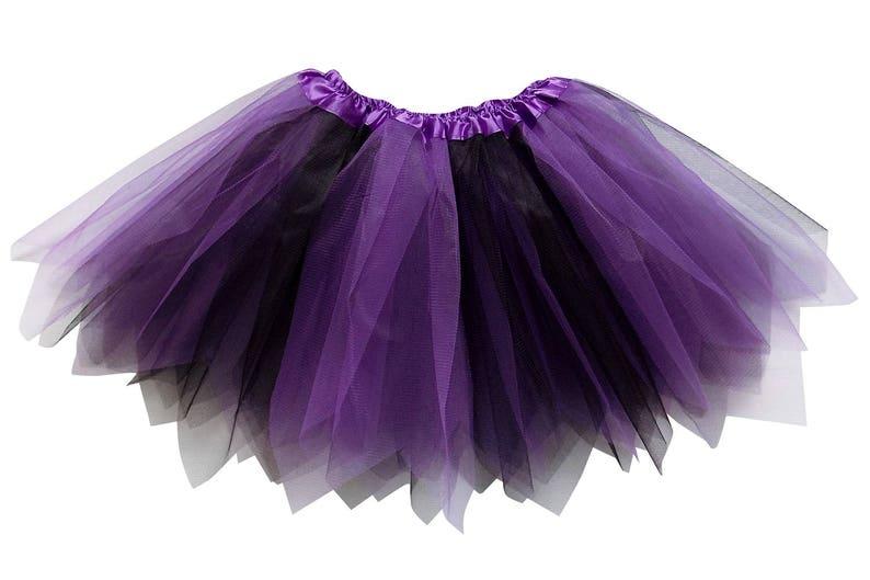 94a17f01d Purple & Black 3 Layer Pixie Angle Cut Tutu Skirt Kid | Etsy
