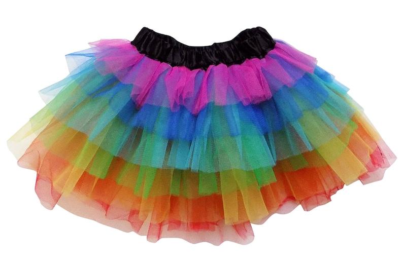 604449ff8 Rainbow 6 Layer TUTU SKIRT Kid Adult or Plus Size | Etsy