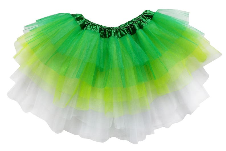 147373bfdd Green Lime White 6 Layer TUTU SKIRT Kid Adult or Plus | Etsy