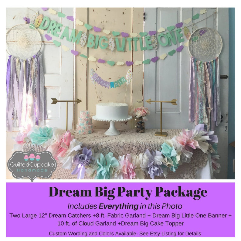 Baby Shower Decorations Package Dream Big Little One Dream Etsy