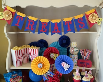 Carnival Banner for Circus Party. Custom Sign with Carnival Tickets.  Choose Your Saying!