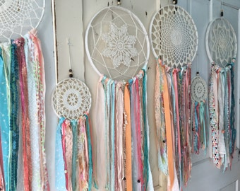 """Dream Catcher in Gypsy Tribal style.  Dreamcatcher for Room Decor, Baby Shower.  CUSTOM colors TOO 12"""" handmade dream catcher Decoration"""