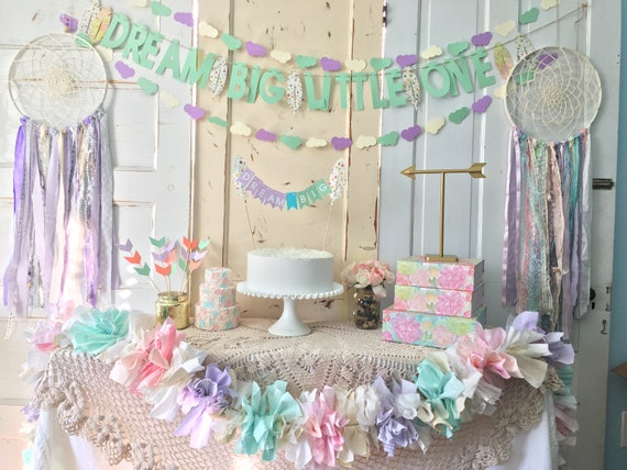 Birthday Decorations Package Dream Big Little One Catcher Party In A Box CUSTOM Colors Available FREE Shipping