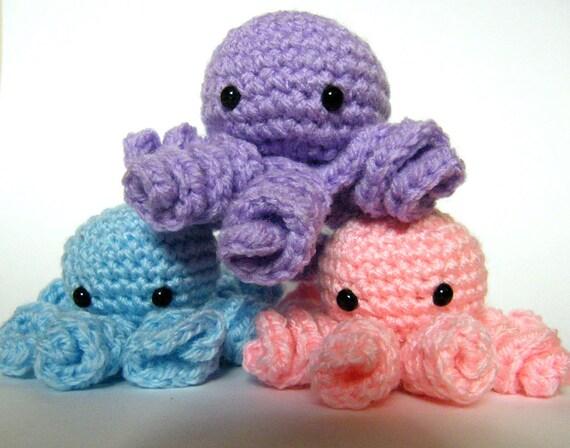 Häkeln Sie Octopus Kleine Krake Die Plüsch Mini Häkeln Krake Etsy