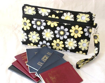 Family Passport Holder - Family Passport Wallet - Travel Wallet - Travel Document Holder - Travel Organizer - Passport Boarding Pass Holder