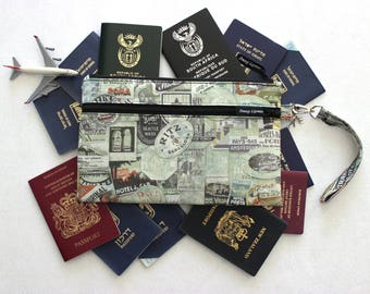 Family Passport Wallet - Family Passport Holder - Large Travel Wallet - Travel Document Organizer - Boarding Pass Wallet - Travel Organizer