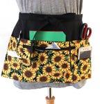 vendor apron with pockets - half apron with zipper pocket - waitress apron - waist apron for women - 6 pocket apron - teacher utility apron