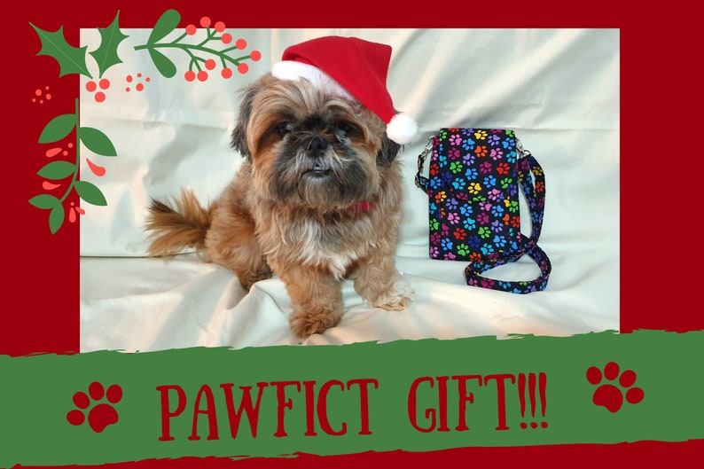 small crossbody bag dog lover gift dog owner gift dog walker gift rainbow paw print mini messenger bag dog walking bag dog mom gift,