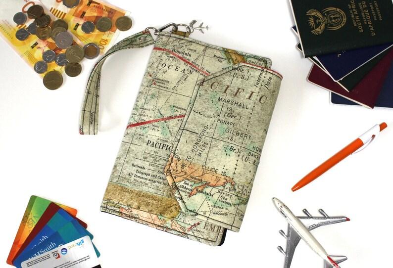 864a55570 Family Passport Holder Family Travel Wallet World Map