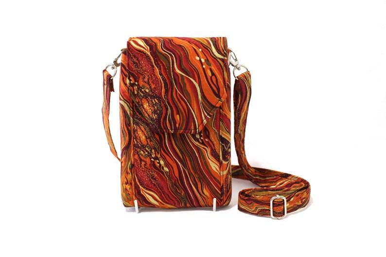 Orange phone bag for women small crossbody bag cell phone  aa0d2ae59ad97