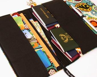 Family Passport Wallet - Family Travel Wallet - Large Passport Holder - Large Passport Wallet - Gift for Traveler - Large Travel Wallet