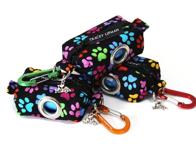 Dog bag holder, leash bag, dog poop bag holder, dog bag dispenser, poop bag dispenser, dog waste bag holder, dog walker gift, dog lover gift