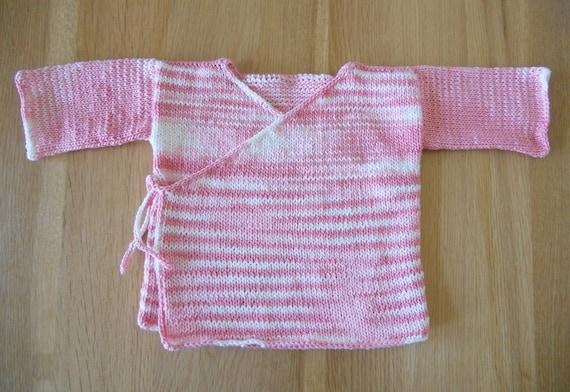 Knitting Pattern Pdf Baby Kimono Jacket Etsy