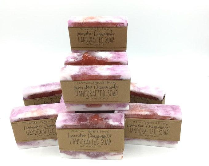 Lavender Chamomile Organic Glycerin Soap Slices - HIGHLY FRAGRANCED