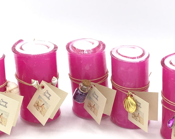 Organic Glycerin Soap Scrolls-You pick color and fragrance - HIGHLY FRAGRANCED