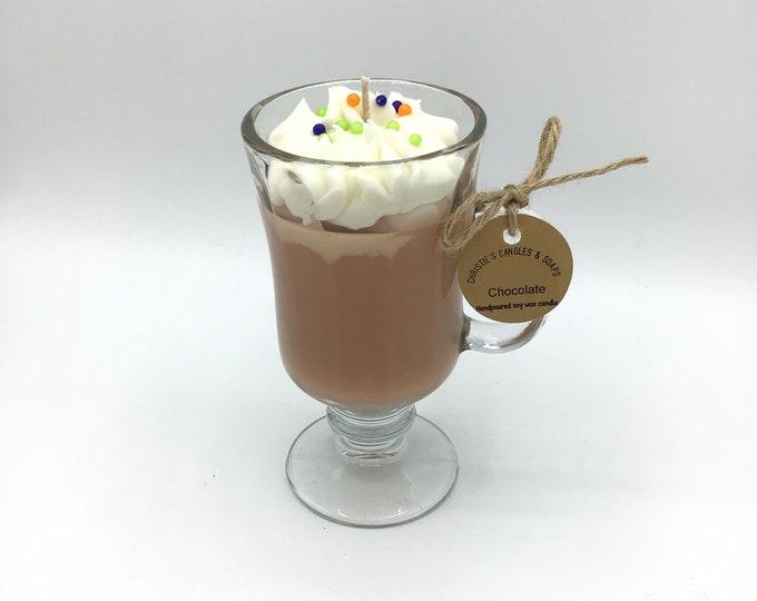 Chocolate Soy Wax Candle Irish coffee mug