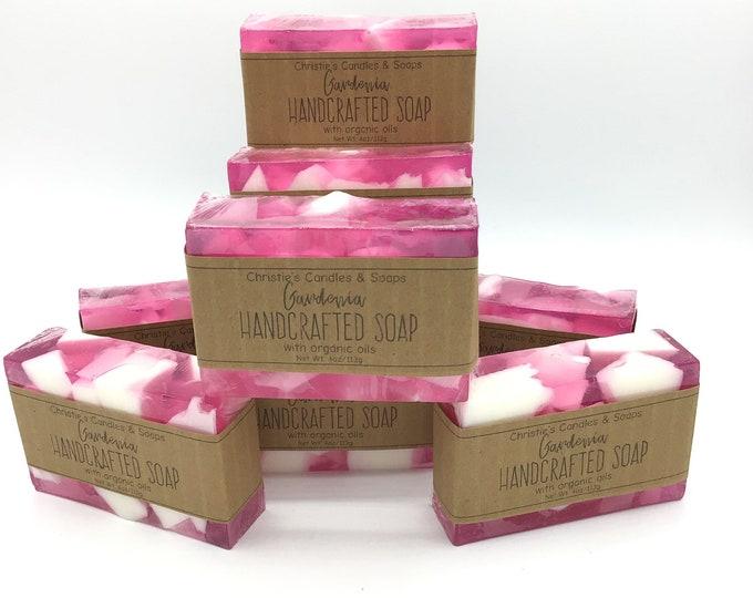 Gardenia Organic Glycerin Soap Slice - HIGHLY FRAGRANCED
