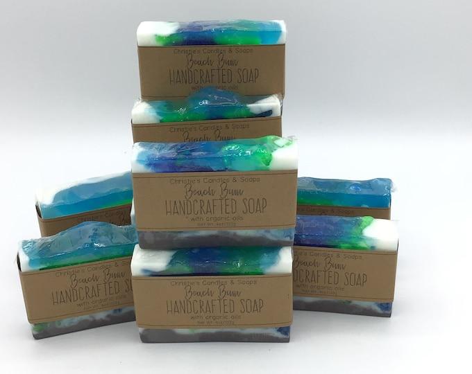 Beach Bum Organic Glycerin Soap Slices - HIGHLY FRAGRANCED
