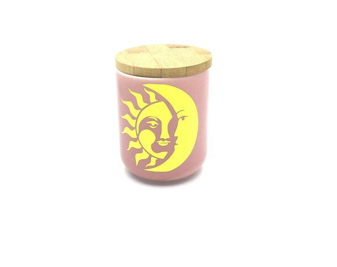 Sun and Moon Soy Wax Candle Highly Fragranced Custom Fragrance